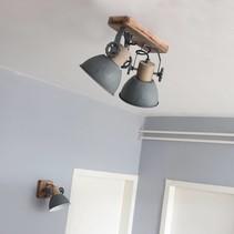 Opbouwspot Gearwood 2-lichts grijs