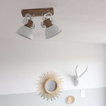 Opbouwspot Gearwood 2-lichts wit
