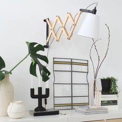 Wandlamp Liv uittrekbaar blank eiken