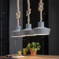 Hanglamp Mississippi 3-lichts Grijs