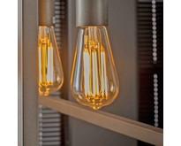 Lichtbron LED E27 6W Edison filament goldline