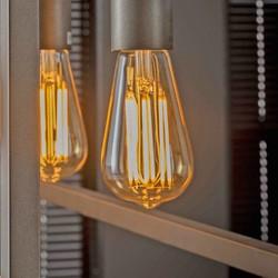 Lichtbron Edison LED filament goldline - E27 6W 2100K 450lm dimbaar / Amberkleurig glas