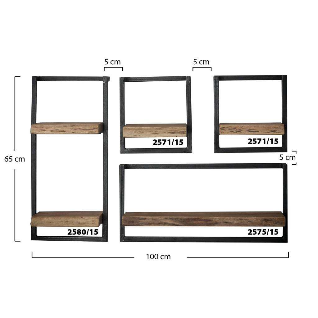 Wandplank 15 Cm.Wandplank Orlando Landelijke Industriele Wandplank 65h 30b
