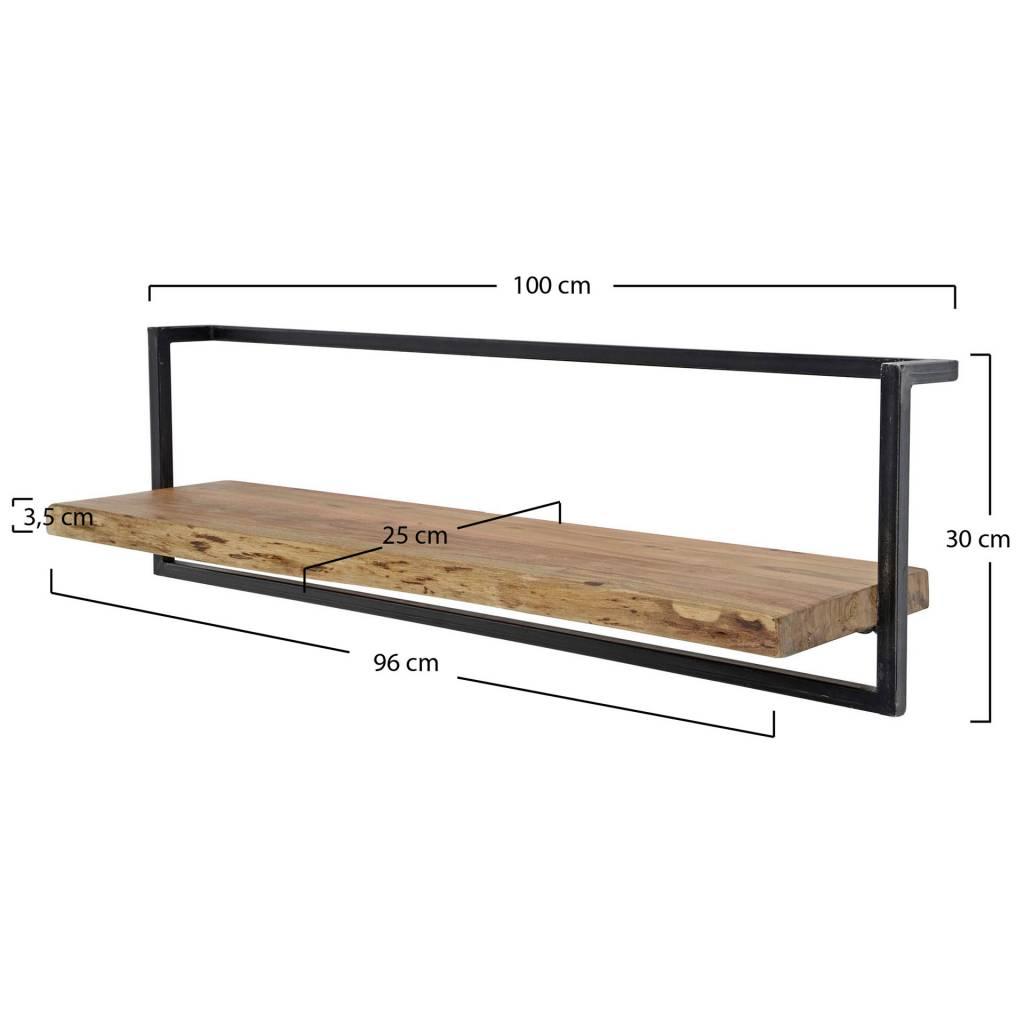 Wandplank 100 Cm.Wandplank Orlando Landelijke Industriele Wandplank 100 Cm B