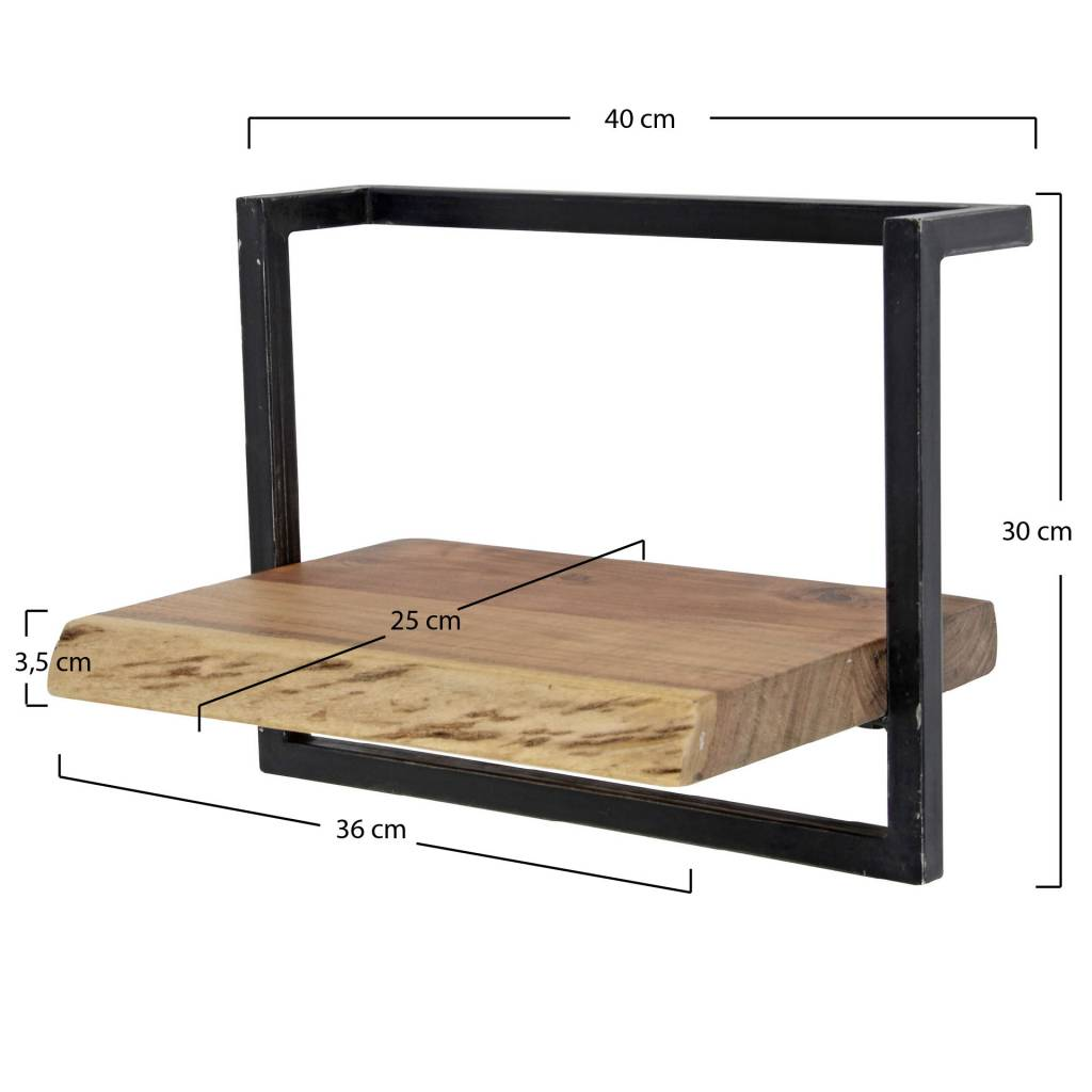 Wandplank Diepte 40 Cm.Belaluz Wandplank Orlando 40 Cm Acaciahout Lampenshoponline