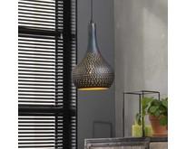 Industriële - Hanglamp - Zwart / bruin - 1 lichts - Chingo