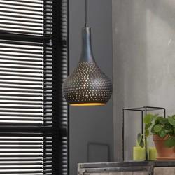 Hanglamp Chingo metaal / zwartbruin gevlamd