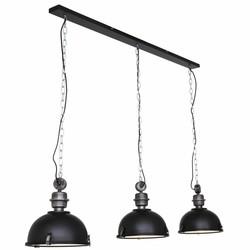 Hanglamp Bikkel 3-lichts zwart
