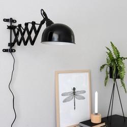 Uittrekbare Wandlamp Yorkshire Zwart