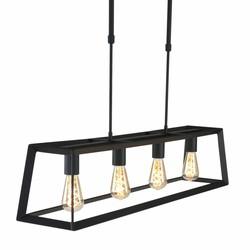 Hanglamp Buckley 4-lichts zwart