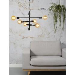 Hanglamp Nashville 6-lichts Zwart