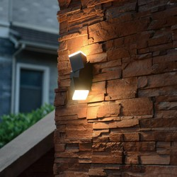 Verstelbare Buiten wandlamp Jack Zwart