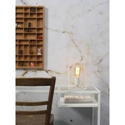Moderne tafellamp Antwerp wit ijzer