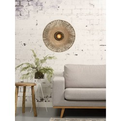 Wandlamp Kalimantan Bamboe medium Naturel