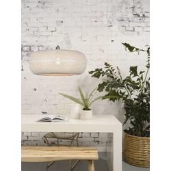 Hanglamp Palawan bamboe enkel kap wit