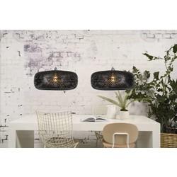 Hanglamp Palawan 2-lichts Zwart