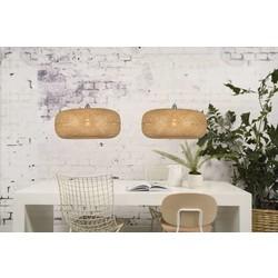 Hanglamp Palawan bamboe dubbele kap naturel