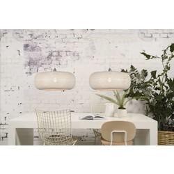 Hanglamp Palawan bamboe dubbele kap wit