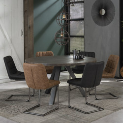 Ronde tafel Dylano Ø140 cm leem antiek