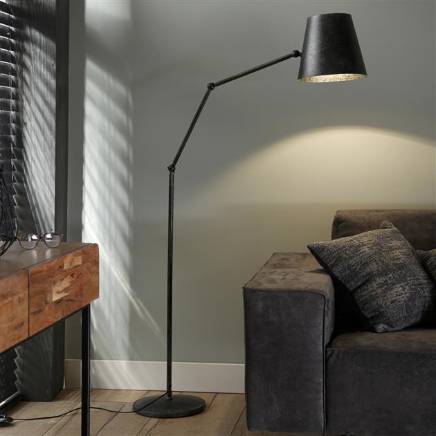 Industriele Vloerlamp Charcoal Verstelbaar Tigris