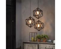 Industriële - Hanglamp - Zwart - 3 lichts - Pentagon