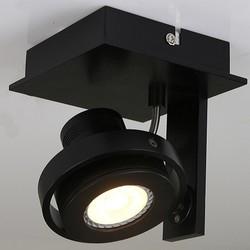 Opbouwspot Quatro 1-lichts zwart