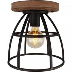 Plafondlamp Birdie Ø30 cm zwart ijzer/hout