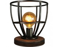 Industriële - Tafellamp - Zwart - Hout - Birdie