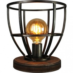 Tafellamp Birdie Hout Zwart