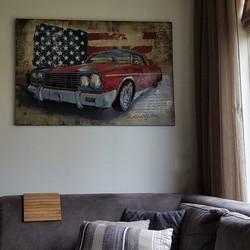 3D Schilderij Cadillac 80 x 120 cm