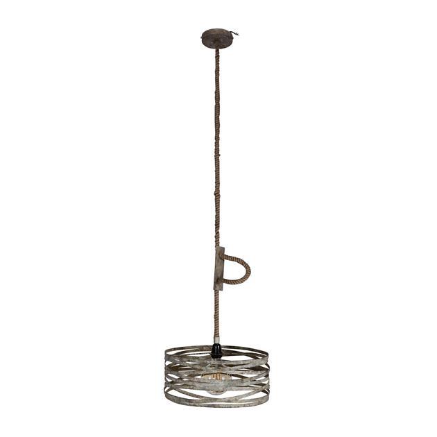 Hanglamp Met Touw.Belaluz Hanglamp Columbus O40 Cm Verstelbaar Touw Verweerd Zink