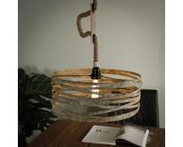 Landelijke - Hanglamp - Verweerd zink - 40 cm - Columbus