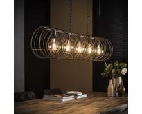 Moderne industriële hanglamp Missouri 5-lichts   Ø30   charcoal