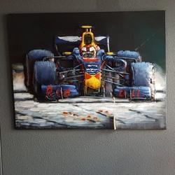 3D Schilderij Red Bull Formule 60 x 80 cm