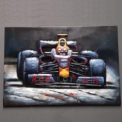 3D Schilderij Red Bull Formule 1 80 cm x 120 cm