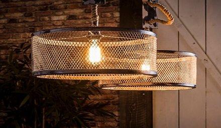 Hanglampen met touw