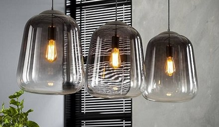 Lampen met glas