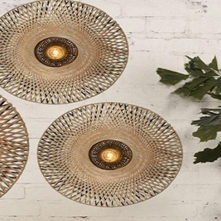 Lampen gemaakt van natuurlijke materialen zijn sfeervol en echte eyecatchers