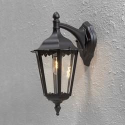 Buiten hangende wandlamp Firenze mat zwart