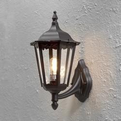 Buiten staande wandlamp Firenze mat zwart