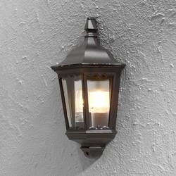 Buiten wandlamp Firenze Flush Zwart