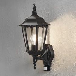 Buiten wandlamp staand Firenze Bewegingsmelder Zwart