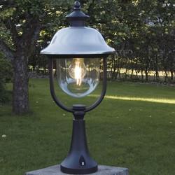 Staande buitenlamp Parma 1-lichts geborsteld RVS kap