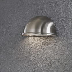 Buiten wandlamp Torino Kwartrond RVS