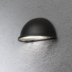 Buiten wandlamp Torino kwartrond mat zwart