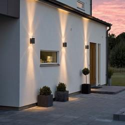 Buiten wandlamp Modena 2-lichts Zwart