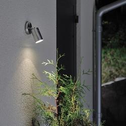 Buiten wandlamp Modena downspot zwenkbaar RVS