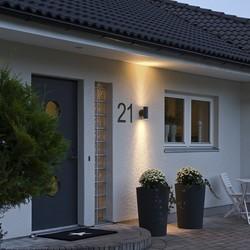 Buiten wandlamp Modena twinspot XL mat zwart