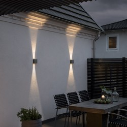 Buiten wandlamp Chieri PowerLED 2x 6W Antraciet