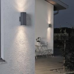 Buiten wandlamp Monza dubbelspot 20cm